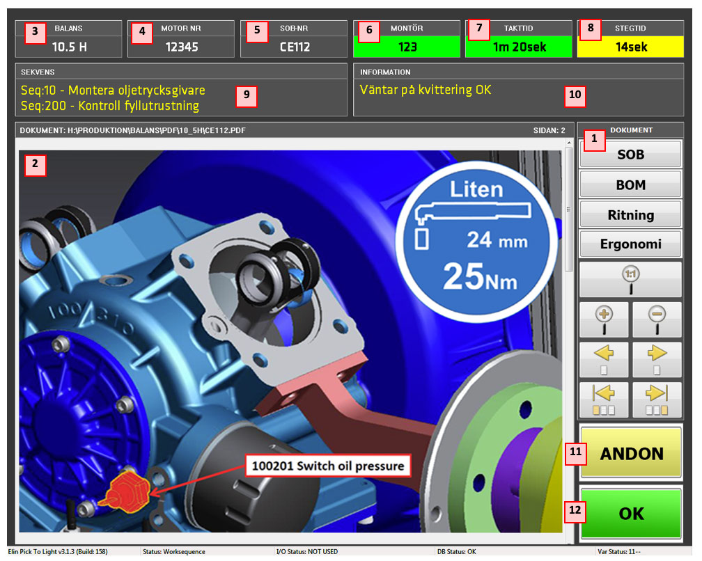 Digitala instruktioner för kvalitetssäkert montage